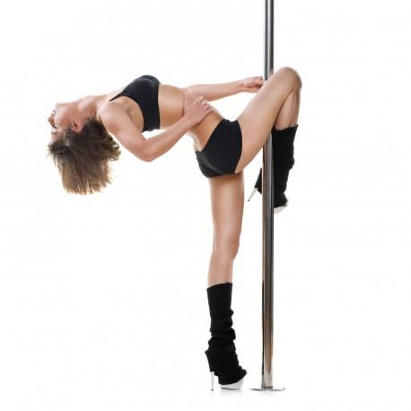Barra de Pole-dance 4,5cm giratória altura 2,70 max