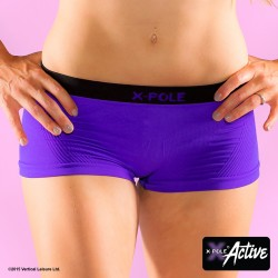 SHORTS CORTOS SIN COSTURAS X-POLE PURPURA S/M
